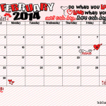 February Calendar and Printable is Here!