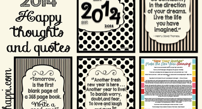 Start the New Year off with these quotes. All of these free printables from inhappi can bring inspiration and motivation!