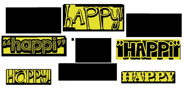 "choose to BE HAPPI! lots of ""happy"" things at inkhappi.com :)"