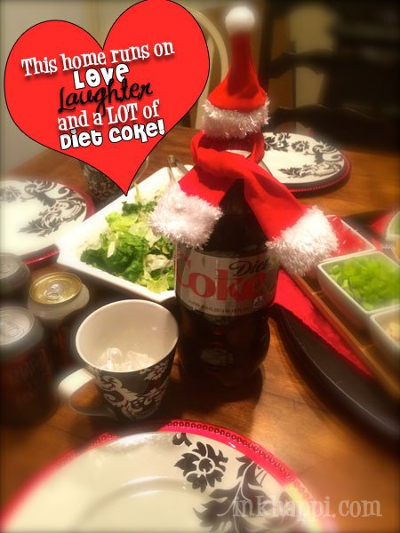 Our home is filled with LOVE, laughter, and a LOT of Diet Coke!  Don't you love the winter scarf and hat?!!