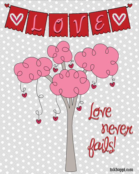 Some fun expressions of love in either 4x5 card size or 8x10 free printables.