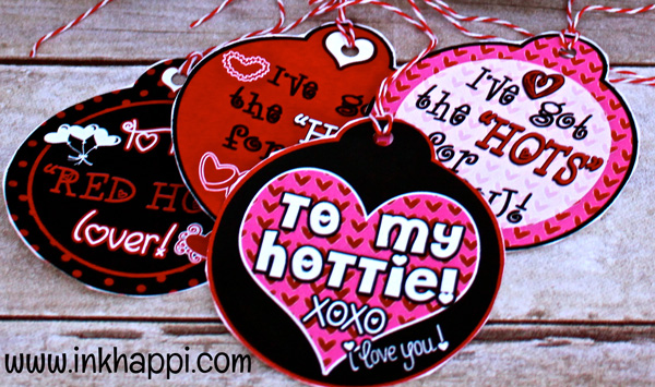 "Gift tags to attach to the most amazing homemade salsa or other ""hot"" item for your love!"