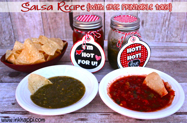 The very best tried and true salsa recipes!  Also some free printable gift tags...great gift for your red hot lover!! ;)
