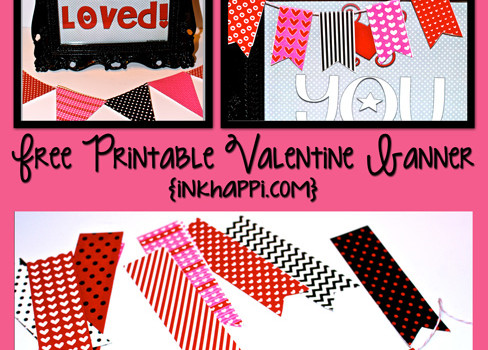 Valentine Banners to decorate with!