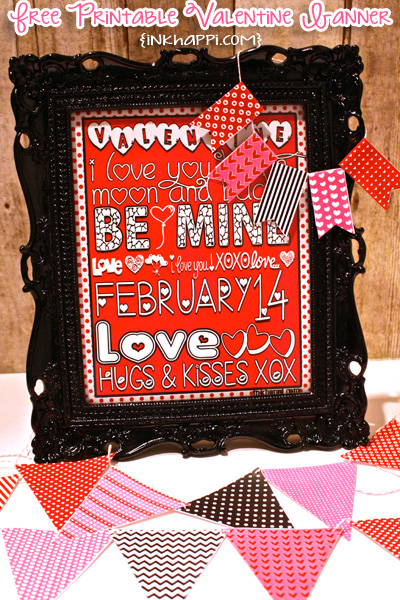 Valentine banners: Fun! Easy! DIY! Add pizazzz to your valentine decor!