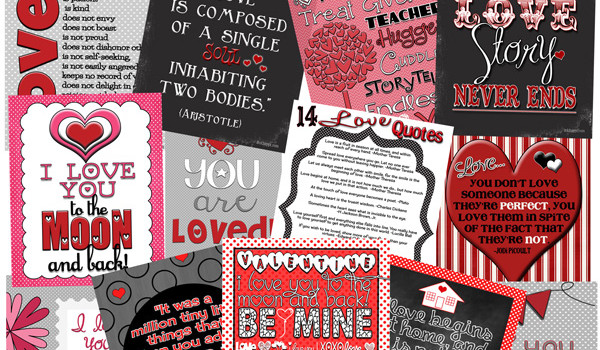 Over 50 love related printables. Fun prints and some great gift ideas!