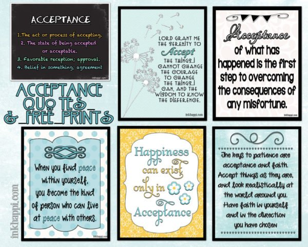 Acceptance quotes and free printables