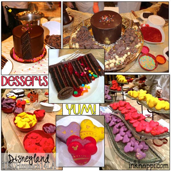 Disneyland Desserts: Mickey macaroons and 12 layer chocolate cake!