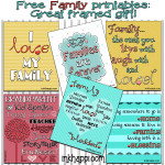 Family & Love. Free printables and great framed gift idea!