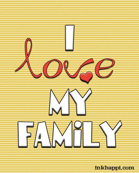 I love my family free printable