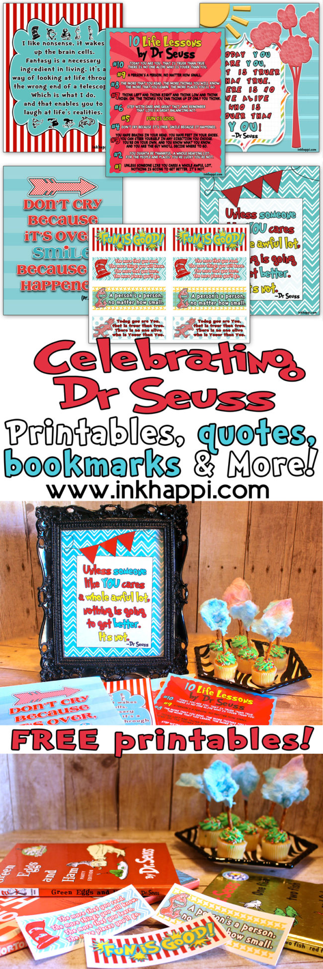 Celebrating Dr Suess with lots of fun, FREE PRINTABLES :)