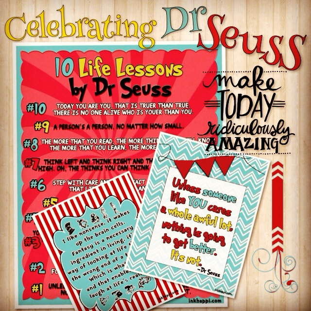 10 Life Lessons By Dr Seuss Free Printable
