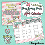 April Calendar and Spring print is Here!