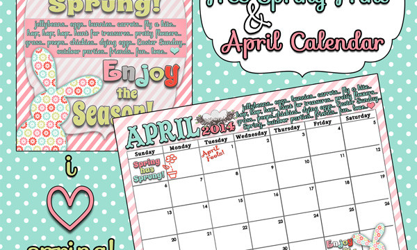 Spring has Sprung! Free Spring print ansApril calendar from inkhappi.