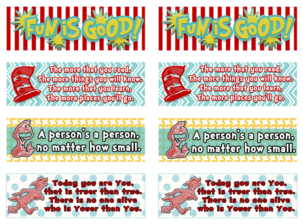 photograph relating to Dr Seuss Printable Bookmarks known as Dr Seuss! A party of a Great person! - inkhappi