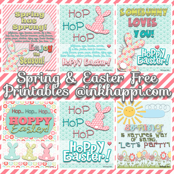 Easter Printables… Hello April, Spring, and Hello Easter!