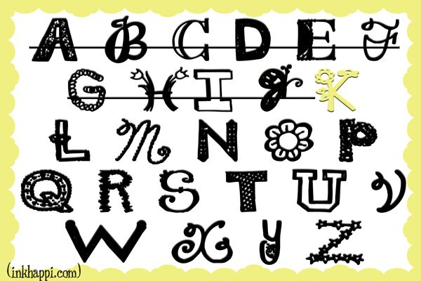 Sharing free font downloads going down the alphabet...now to letter K.