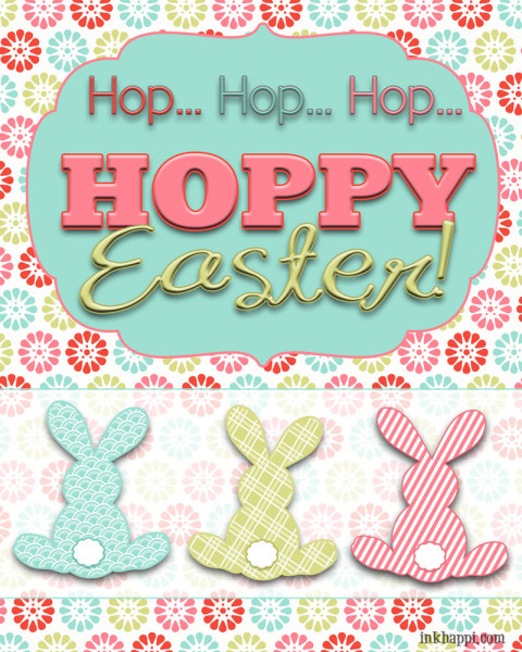 HOP HOP HOP Super cute BUNNY  free spring and Easter printables to decorate with or gift to friends and neighbors.