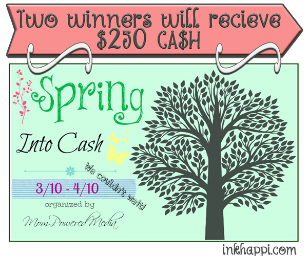 "Win $250 cash in the ""Spring Into Cash"" giveaway! See post for details!"
