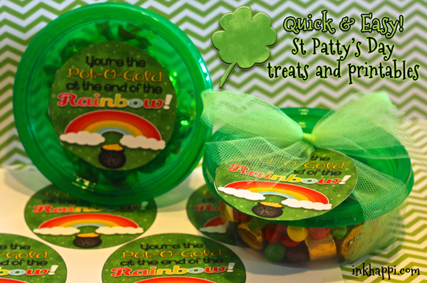 Quick and easy printables and treat ideas using these cute lil containers from Dollar Tree. Surprise your co-workers or family with this to add some fun to their day. :)
