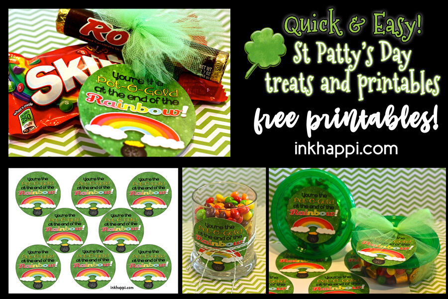 St Pattys day candy tags. Surprise your co-workers or family with this to add some fun to their day. #freeprintables #stpatricksday