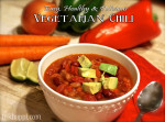 Super easy, healthy and delicious vegetarian chili. This is so good and packed with protein and vegetables!