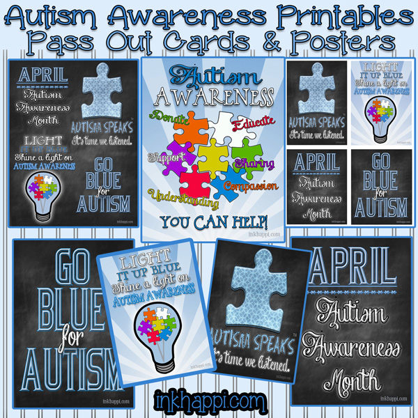 April is Autism Awareness Month. Its a great opportunity to show your support toward a great need and cause. Lots of free printables and information on this site.