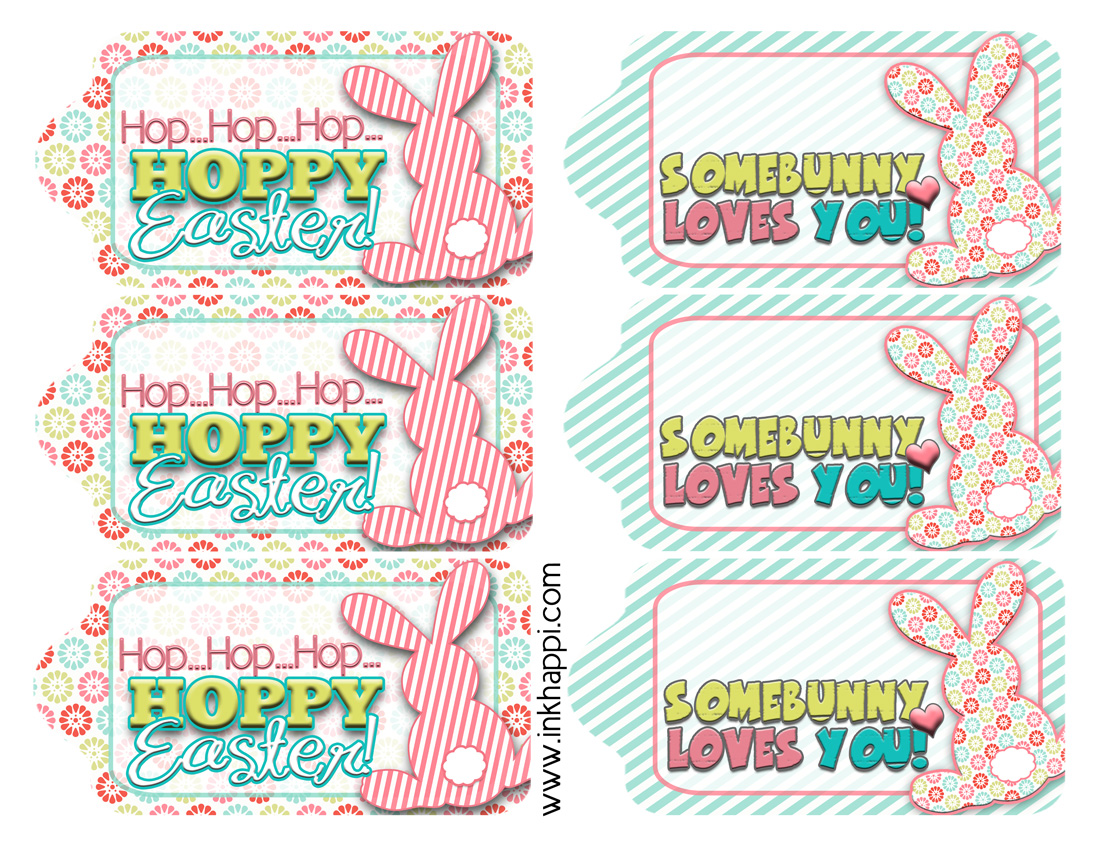 Easter gift tags to help wrap it pretty inkhappi love these cute fun free printable easter gift tags negle