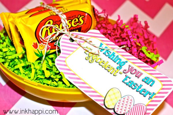 fun, free printable easter Gift tags.#easter #hoppyeaster #freeprintables #gifttags