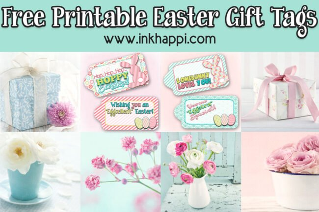 Love these cute, fun, free printable easter Gift tags.#easter #hoppyeaster #freeprintables #gifttags