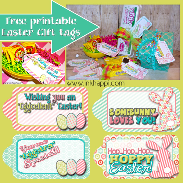 Easter gift tags to help wrap it pretty inkhappi love these cute fun free printable easter gift tags negle Gallery