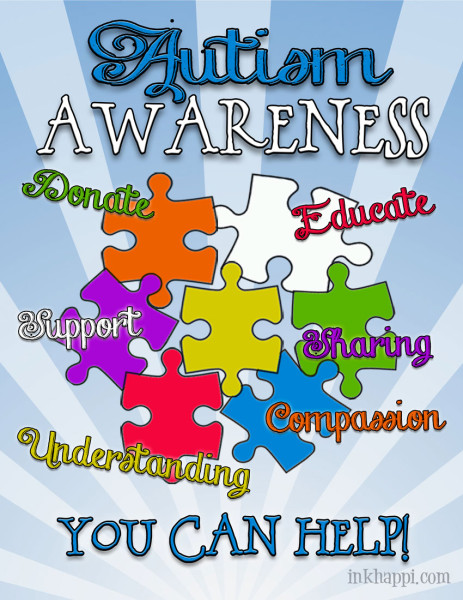 April is Autism Awareness Month. Its a great opportunity to show your support toward a great need and cause. Lots of printables and information on this site.