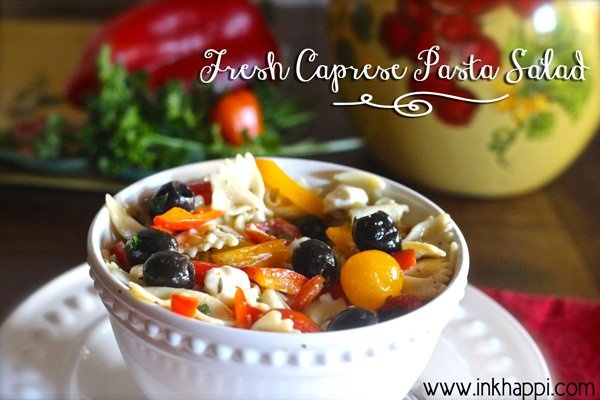 An awesome blend of fresh ingredients to create this amazing Caprese Pasta Salad!