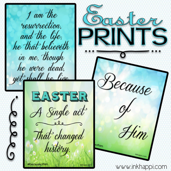 Because of Him free Easter Printables #Easter #BecauseOfHim