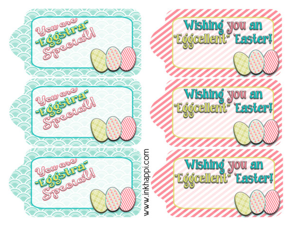 Love these cute, fun, free printable easter Gift tags.
