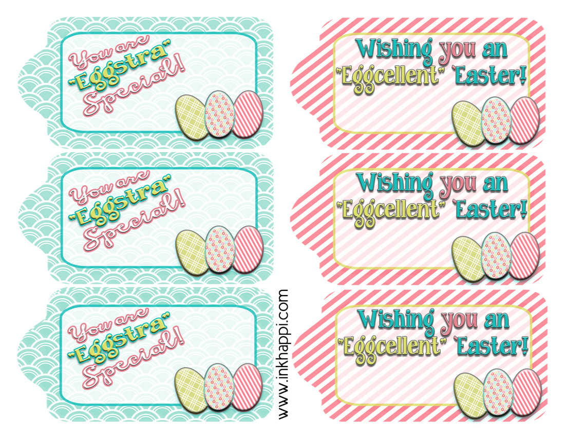 Easter gift tags to help wrap it pretty inkhappi love these cute fun free printable easter gift tags negle Images