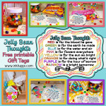 Jelly Bean facts and some cute printables with what the colors of jelly beans stand for in relation to Easter. Put them in your kids Easter baskets! Theses are great to use as a teaching tool for kids or to gift to others!