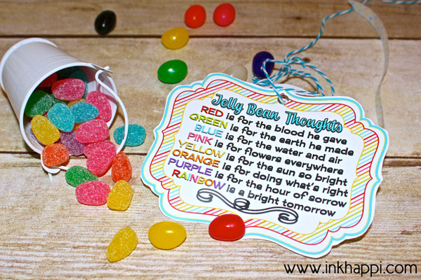 Jelly bean thoughts for easter free printable gift tags inkhappi add these to your kids easter baskets jelly bean facts and some cute printables with negle Gallery