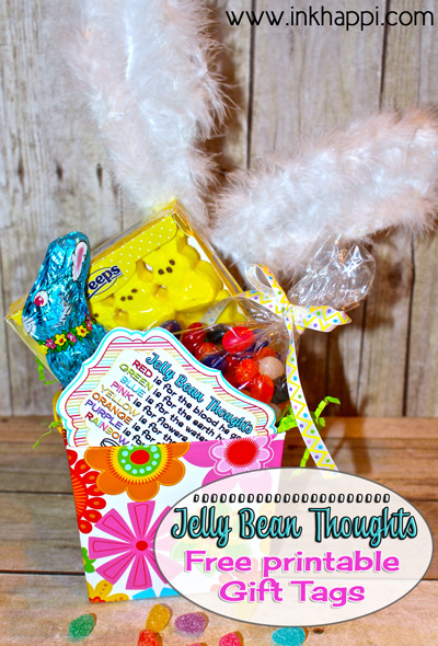 Add these to your kids easter baskets! Theses are great to use as a teaching tool for kids or to gift to others... Jelly Bean facts and some cute printables with what the colors of jelly beans stand for in relation to Easter.