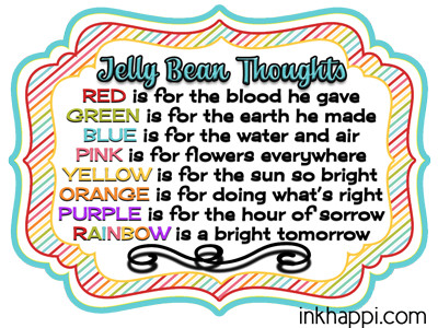 Jelly bean thoughts for easter free printable gift tags inkhappi jelly bean facts and some cute printables with what the colors of jelly beans stand for negle Choice Image