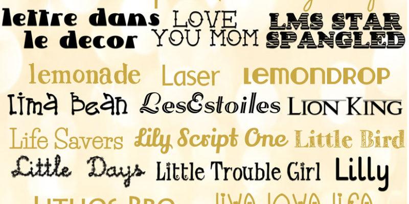 Fonts… Sharing My Favorite L Fonts!