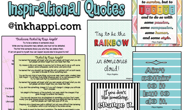 Tons of Maya Angelo quotes and several free printables from inkhappi.com!