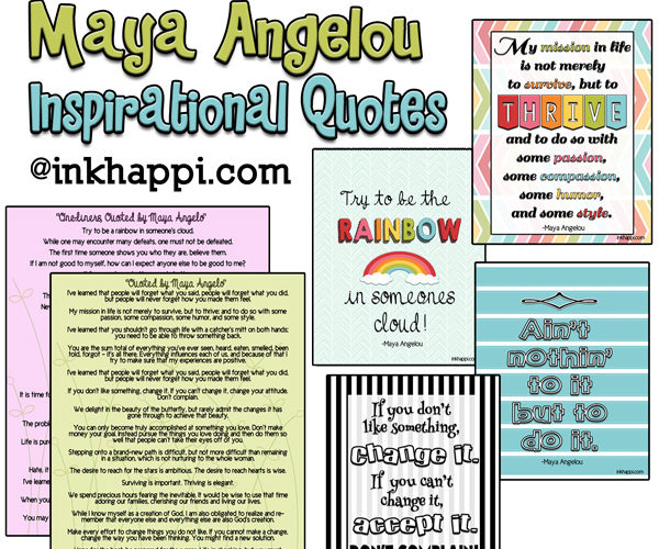 Maya Angelou Quotes -Be Inspired! {part 2}
