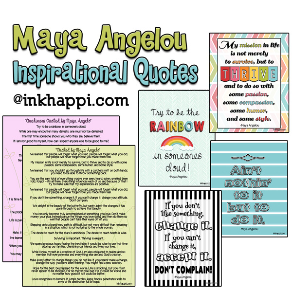 Maya Angelou Quotes And Inspiration A Life Well Lived Inkhappi