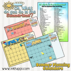 Summer Activities and Free Printable Calendars!