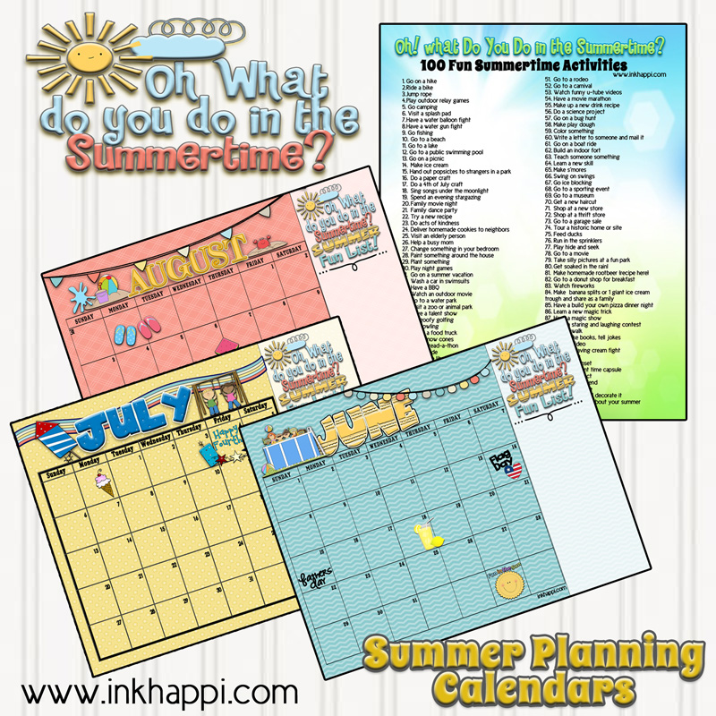 Calendar Activities Printables : Summer activities and free printable calendars inkhappi