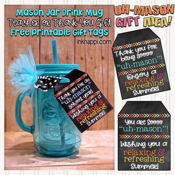 graphic relating to Free Printable Teacher Gift Tags referred to as Instructor Reward Strategy and Free of charge Printable Reward Tags - inkhappi