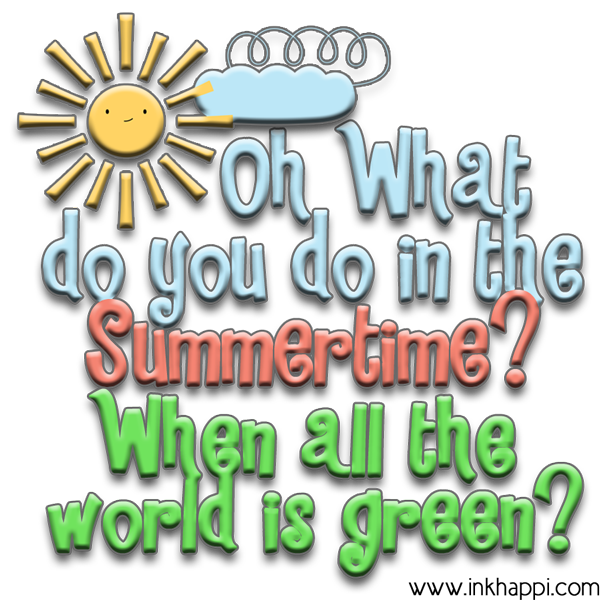Oh what do you do in the Summertime? Fun ideas and planning calendars!