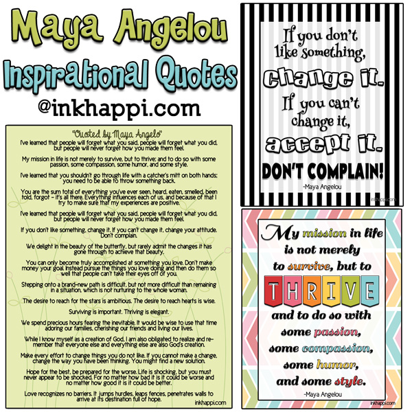 Maya Angelo Quotes, Inspirations, And Free Printables!