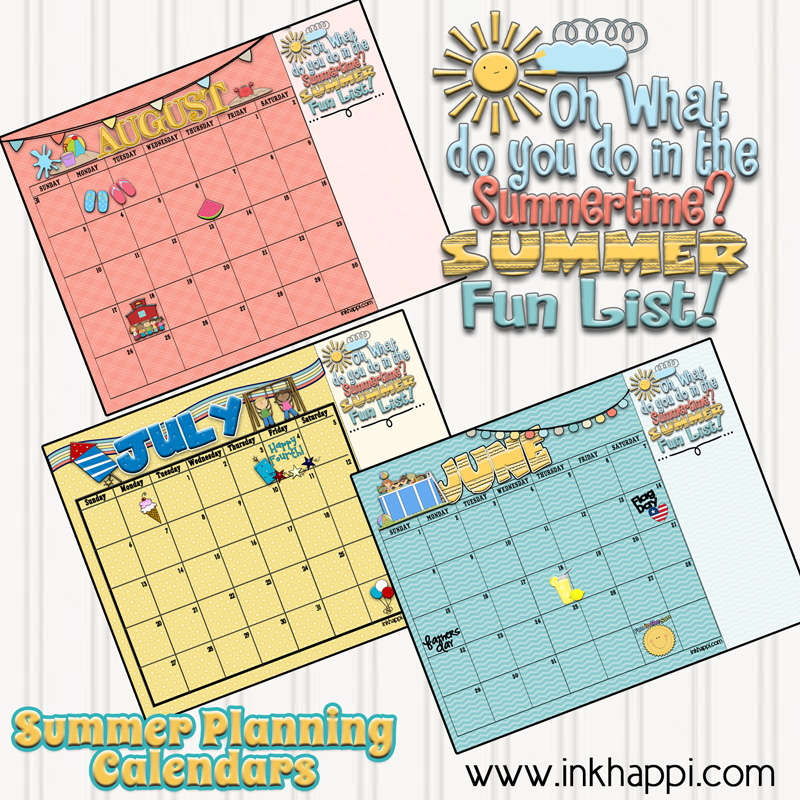 Blank Calendar Summer : Summer activities and free printable calendars inkhappi